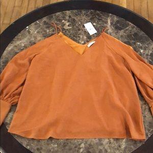 Fashion Nova burnt orange blouse